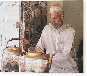 Old Ibb Tea Man Wood Print