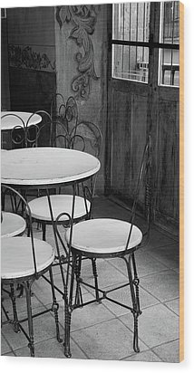 Old Ice Cream Parlor Wood Print by Maryann Flick