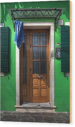 Old Italian Door Wood Print by Joana Kruse