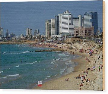 Old Jaffa Beach - Tel Aviv Israel Wood Print by Joshua Benk