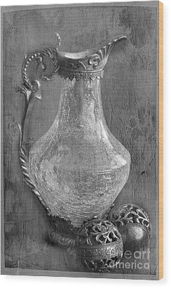 Old Jug Wood Print by Taschja Hattingh