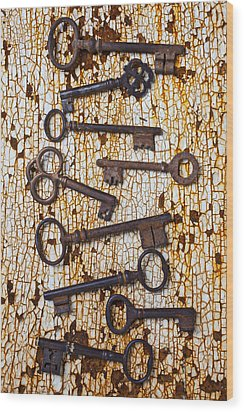 Old Keys Wood Print by Garry Gay