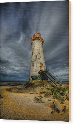 Old Lighthouse Wood Print by Adrian Evans