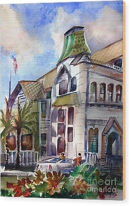 Old Los Angeles Wood Print