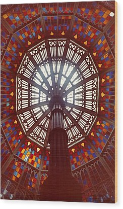 Old Louisiana State Capitol Dome Wood Print by Margaret Harmon