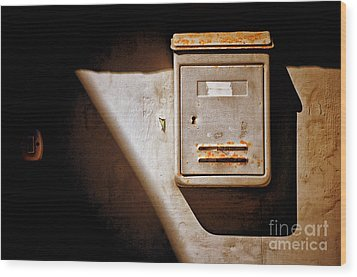 Old Mailbox With Doorbell Wood Print by Silvia Ganora