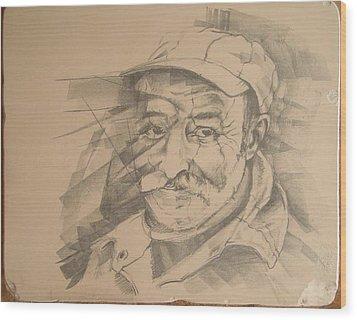 Old Man Wood Print by Curt Sandu Viorel