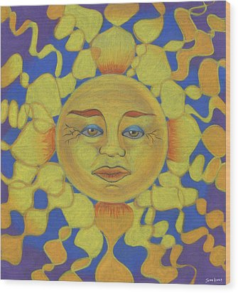 Old Man Sun Wood Print