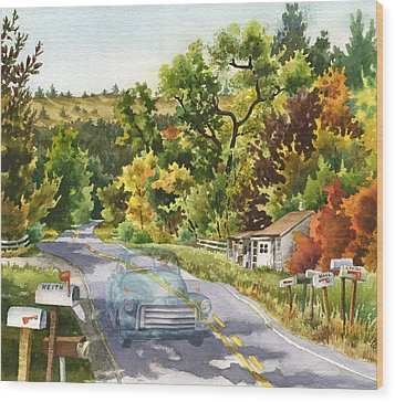 Old Marshall Wood Print by Anne Gifford