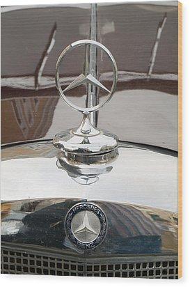 Old Mercedes Logos Wood Print by Odon Czintos