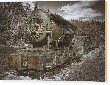 Old Mine Train Banff Wood Print