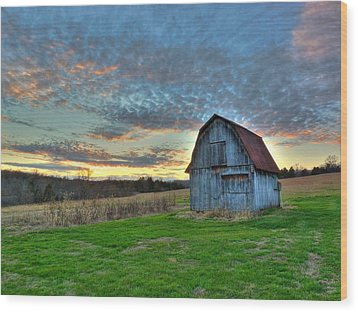 Wood Print featuring the photograph Old Mines Barn by William Fields