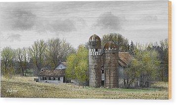 Old Minnesota Farmstead Wood Print