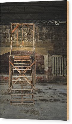 Wood Print featuring the photograph Old Montana Prison by Fran Riley