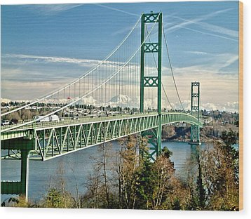 Wood Print featuring the photograph Old Narrows Bridge by Rob Green