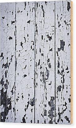 Old Painted Wood Abstract Wood Print by Elena Elisseeva