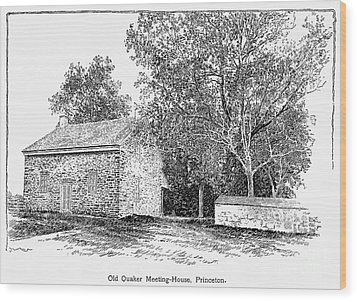 Old Quaker Meeting House Wood Print by Granger