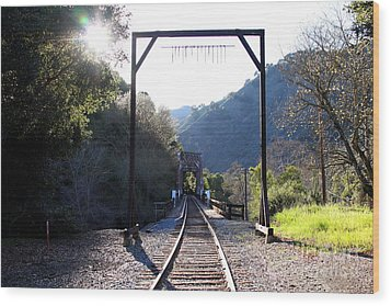 Old Railroad Bridge At Near Historic Niles District In California . 7d12747 Wood Print by Wingsdomain Art and Photography