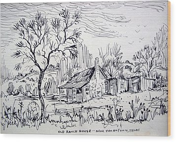 Old Ranch House Wood Print by Bill Joseph  Markowski