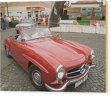 Old Red Mercedes-benz Wood Print by Odon Czintos