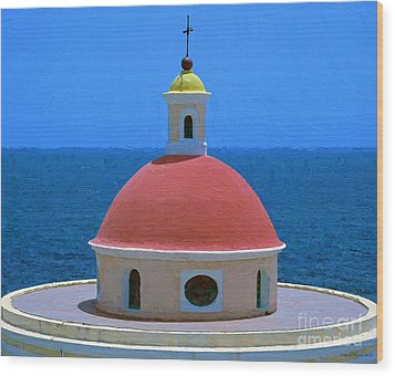 Old San Juan Wood Print by Jerry L Barrett