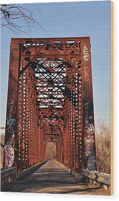 Old Sante Fe Bridge Wood Print