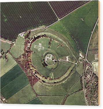 Old Sarum Wood Print by Getmapping Plc