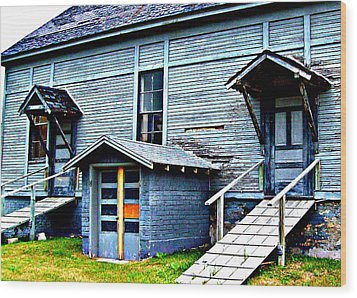 Wood Print featuring the photograph Old School Cheboygan by MJ Olsen
