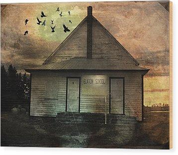 Old School Wood Print by Janet Kearns