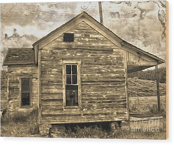 Old Shack Wood Print by Gregory Dyer