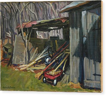 Old Shed Berkshires Wood Print by Thor Wickstrom