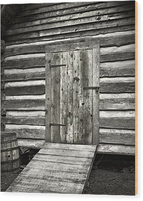Old Shed Wood Print by Patrick M Lynch