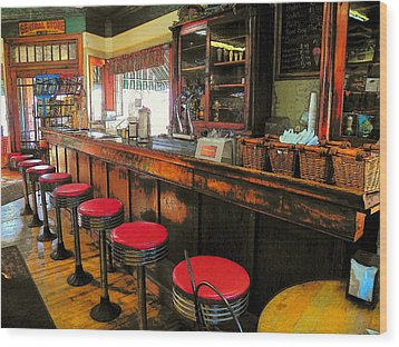 Old Soda Shoppe Wood Print by Joyce Kimble Smith