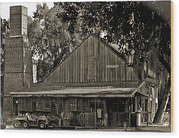 Wood Print featuring the photograph Old Spanish Sugar Mill Old Photo by DigiArt Diaries by Vicky B Fuller