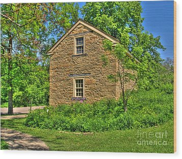Old Stone House I Wood Print by Jimmy Ostgard