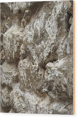 Old Stone Wall Wood Print