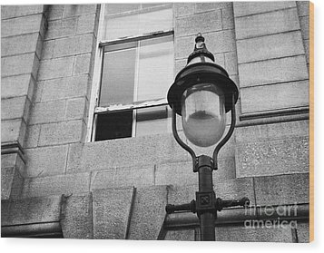 Old Sugg Gas Street Lights Converted To Run On Electric Lighting Aberdeen Scotland Uk Wood Print by Joe Fox
