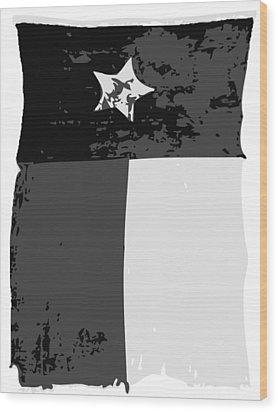 Old Texas Flag Bw3 Wood Print by Scott Kelley