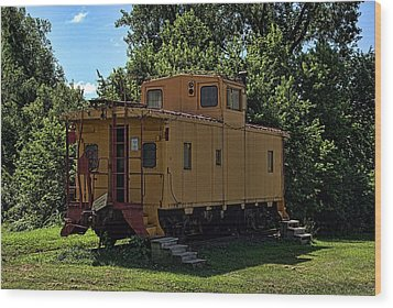 Old Time Caboose Wood Print by Tim McCullough