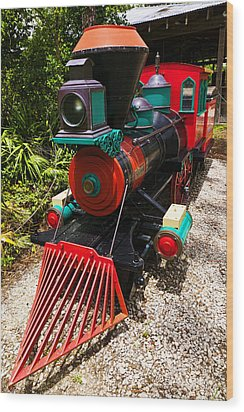 Old Time Train Wood Print by Garry Gay