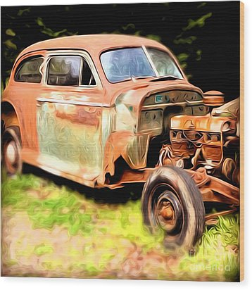 Old Timer Wood Print by Laura Brightwood