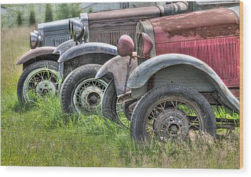 Old Timers Wood Print by Naman Imagery