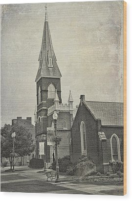Old Town Church Wood Print
