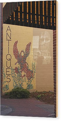 Wood Print featuring the photograph Old Town Grants Pass Detail by Mick Anderson