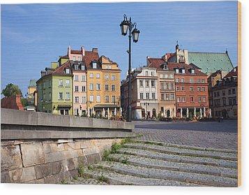 Old Town In Warsaw Wood Print by Artur Bogacki