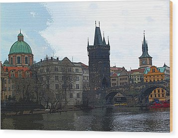 Old Town Prague Wood Print by Paul Pobiak