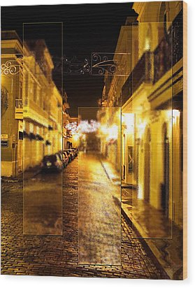 Old Town San Juan Wood Print by Gordon Engebretson