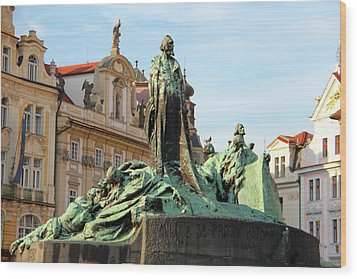 Old Town Square Wood Print by Mariola Bitner