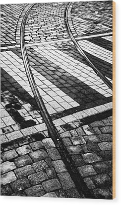 Old Tracks Made New Wood Print by Hakon Soreide