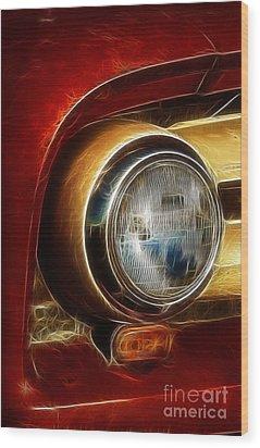 Old Truck Headlight Wood Print by Darleen Stry